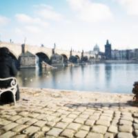 Na lavičce u Vltavy